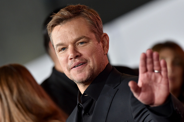 """HOLLYWOOD, CALIFORNIA - NOVEMBER 04: Matt Damon attends the Premiere of FOX's """"Ford v Ferrari"""" at TCL Chinese Theatre on November 04, 2019 in Hollywood, California. (Photo by Axelle/Bauer-Griffin/FilmMagic)"""