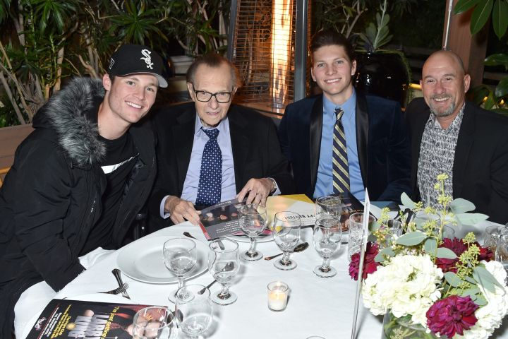 Cannon Edward King, Larry King, Chance Armstrong King and Larry King Jr.