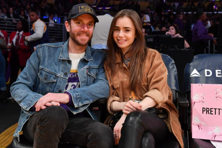 Lily Collins and Charlie