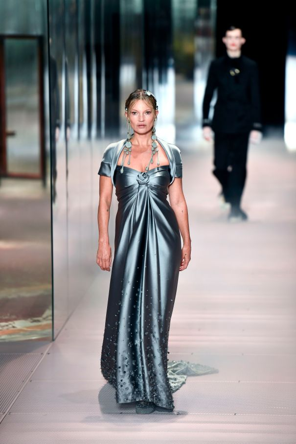 Kate Moss Walks Fendi Runway