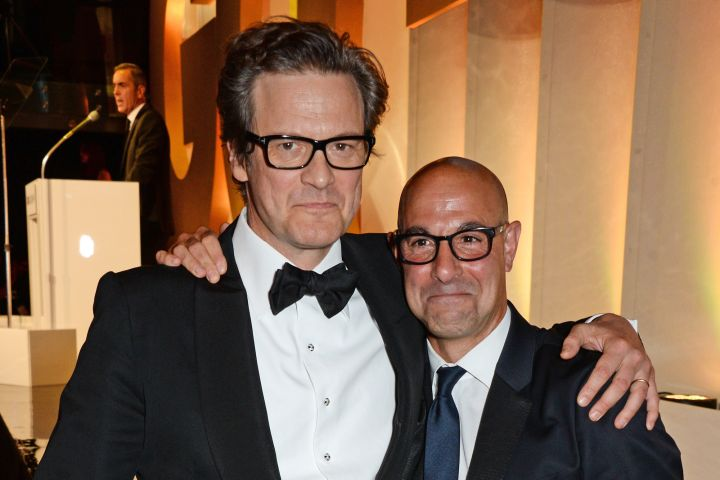 Colin Firth and Stanley Tucci. Photo: David M. Benett/Getty Images