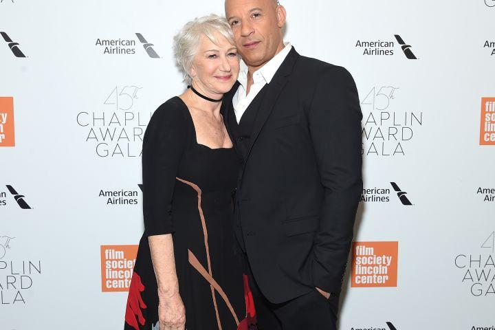 Helen Mirren and Vin Diesel - Getty Images
