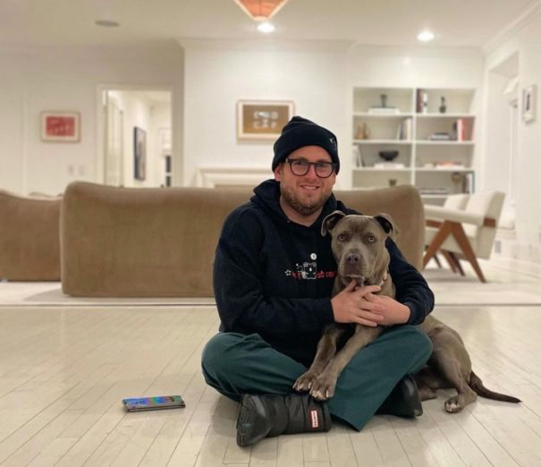 Jonah Hill's New Four-Legged Friend