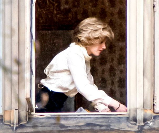 Kristen Stewart Transforms Into Princess Diana On Set Of 'Spencer'