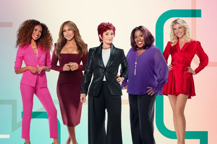Elaine Welteroth, Carrie Ann Inaba, Sharon Osbourne, Sheryl Underwood and Amanda Kloots. Photo: Randee St. Nicholas/CBS