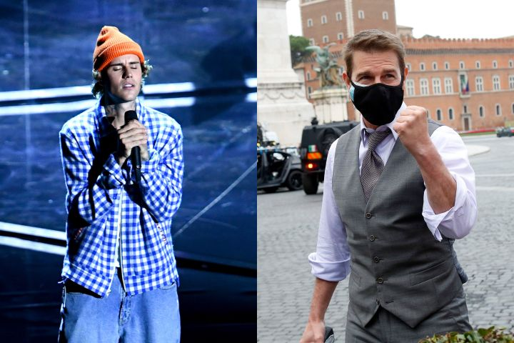 Justin Bieber, Tom Cruise. Photo: Getty Images