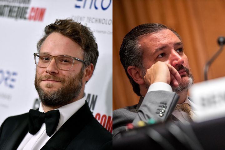 Seth Rogen, Ted Cruz. Photo: CP Images