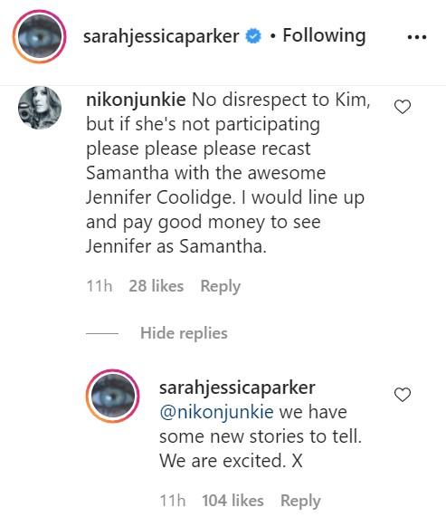 Credit: Instagram/Sarah Jessica Parker