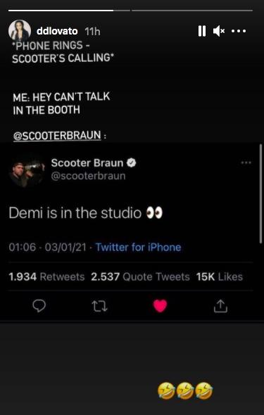 Demi Lovato / Historias de Instagram