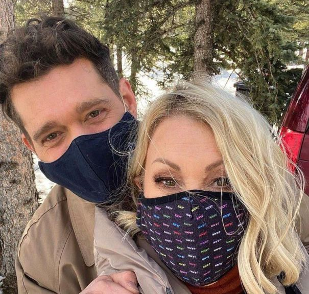Jann Arden And Michael Bublé Have Fun On Set