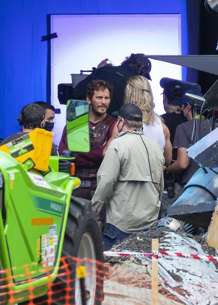 Chris Hemsworth and Chris Pratt. Photo: Backgrid