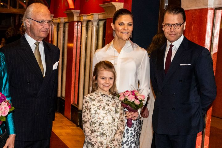 King Carl XVI Gustaf, Princess Estelle, Crown Princess Victoria, and Prince Daniel of Sweden