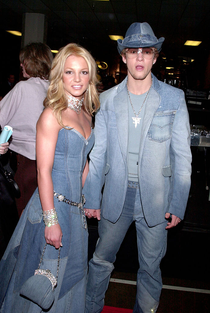 Britney Spears and Justin Timberlake, arriving at the 28th annual American Music Awards, held at the Shrine Auditorium