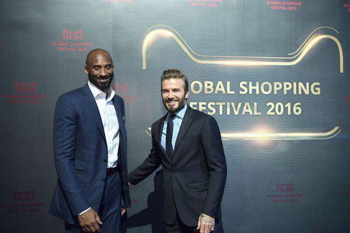 Kobe Bryant and David Beckham