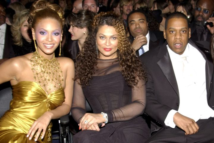 Beyonce, Tina Knowles and Jay-Z. Photo: Getty Images