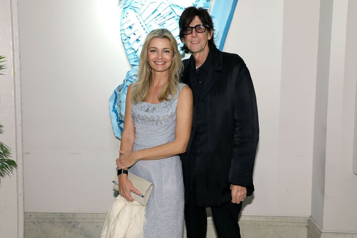 Paulina Porzikova and Ric Ocasek. Photo: Getty Images