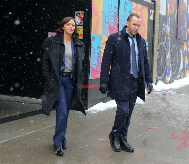 Donnie Wahlberg Donnie Wahlberg And Marisa Ramirez Hit The Streets Of NYC For 'Blue Bloods'