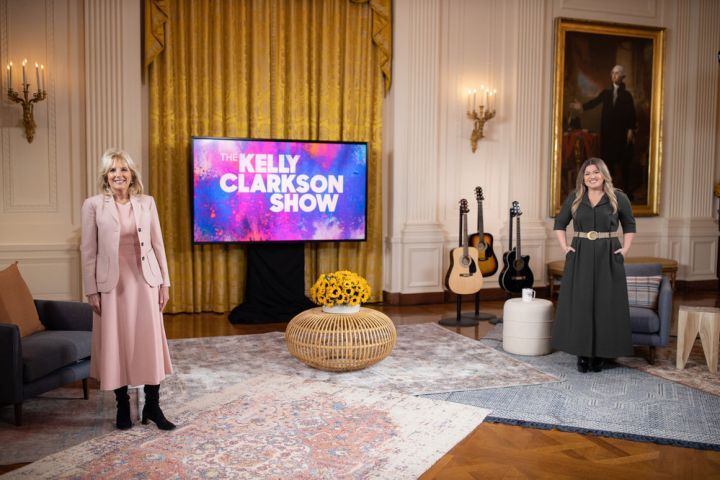 Jill Biden, Kelly Clarkson. Photo: NBCU Media Village