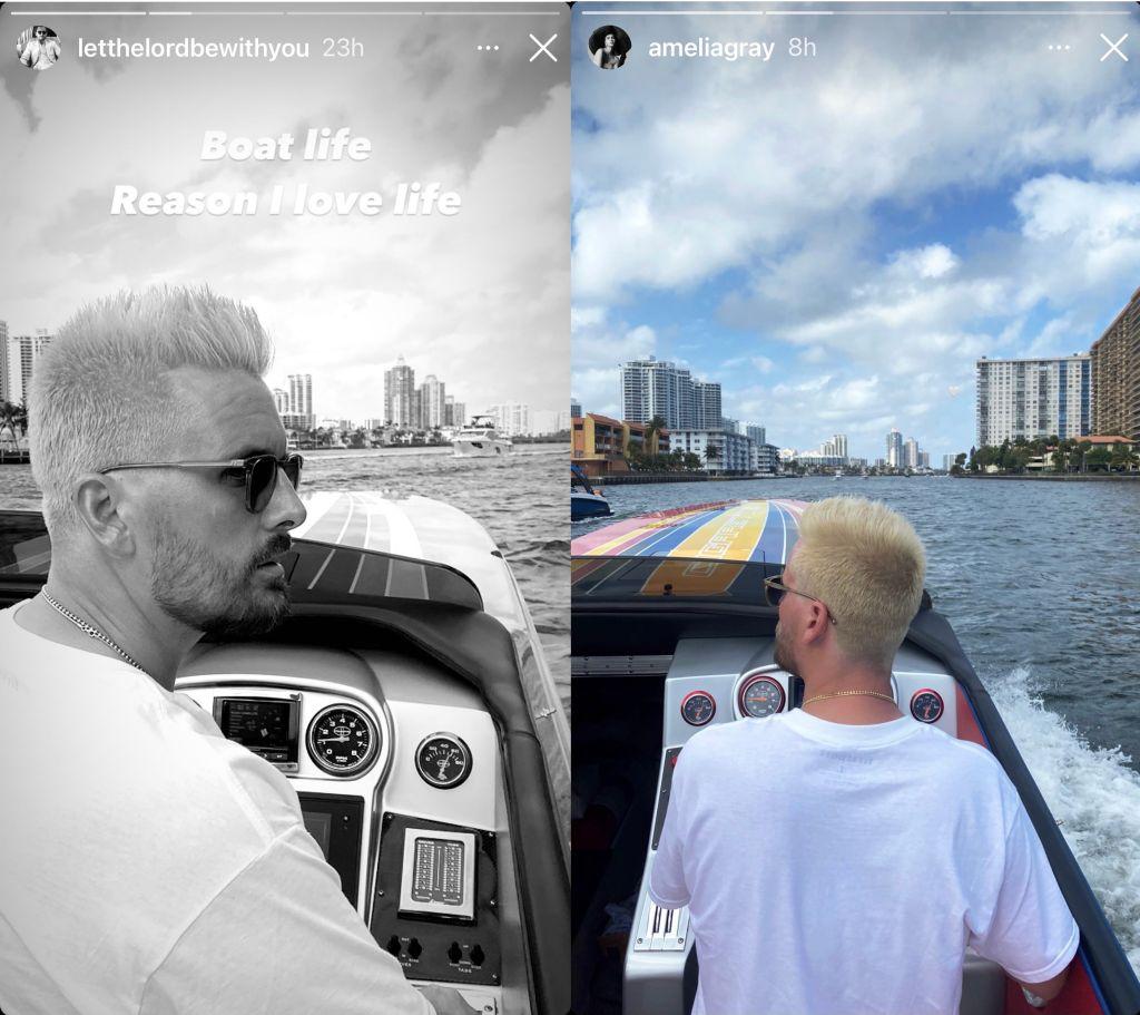 Scott Disick/Instagram; Amelia Hamlin/Instagram