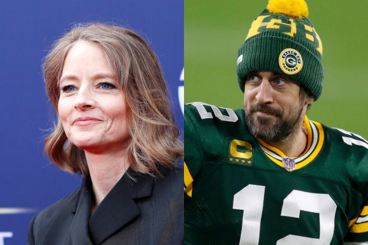 Jodie Foster, Aaron Rodgers. Photo: CP Images