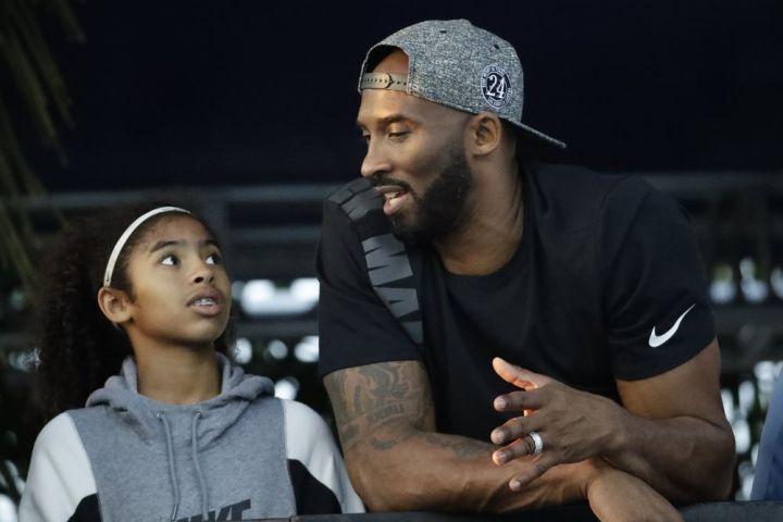 Gianna Bryant, Kobe Bryant. Photo: AP Photo/Chris Carlson, file