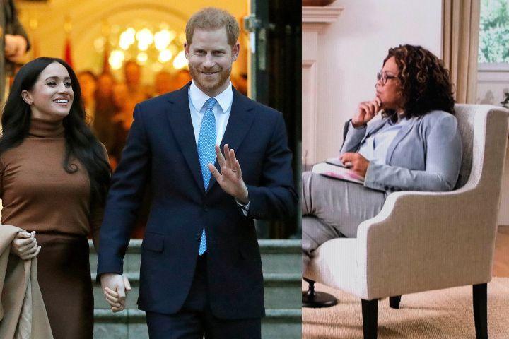 Meghan Markle & Prince Harry, Oprah Winfrey. Photo: CP Images