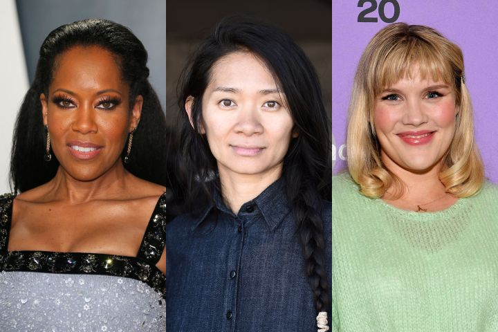 Regina King, Chloé Zhao, Emerald Fennell. Photo: Getty Images