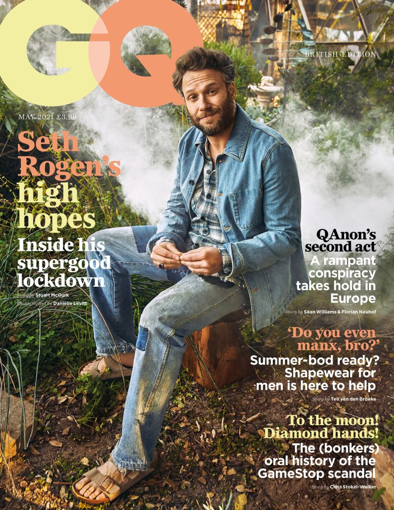 "Seth Rogen for ""GQ""."