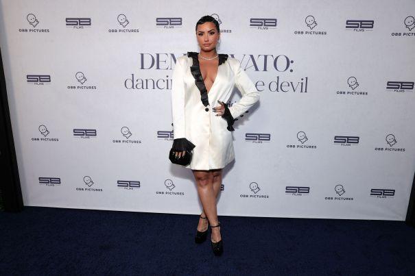 Demi Lovato Attends 'Dancing With The Devil' Premiere