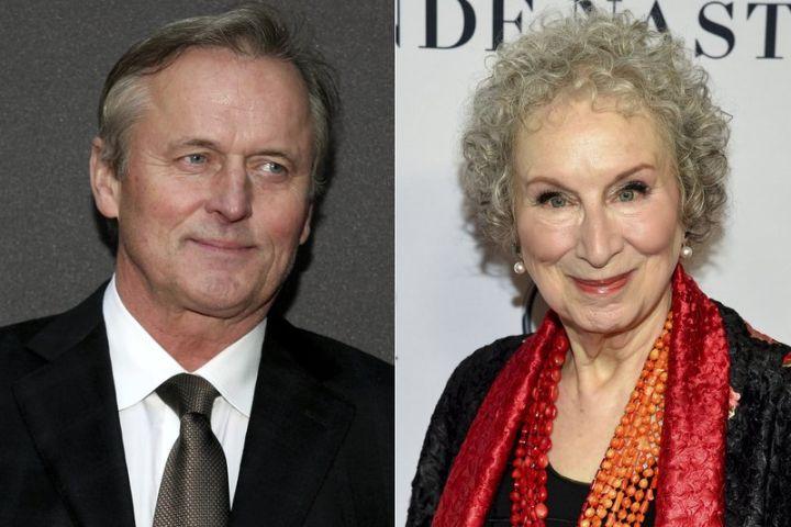 John Grisham, Margaret Atwood. Photo: AP Photos