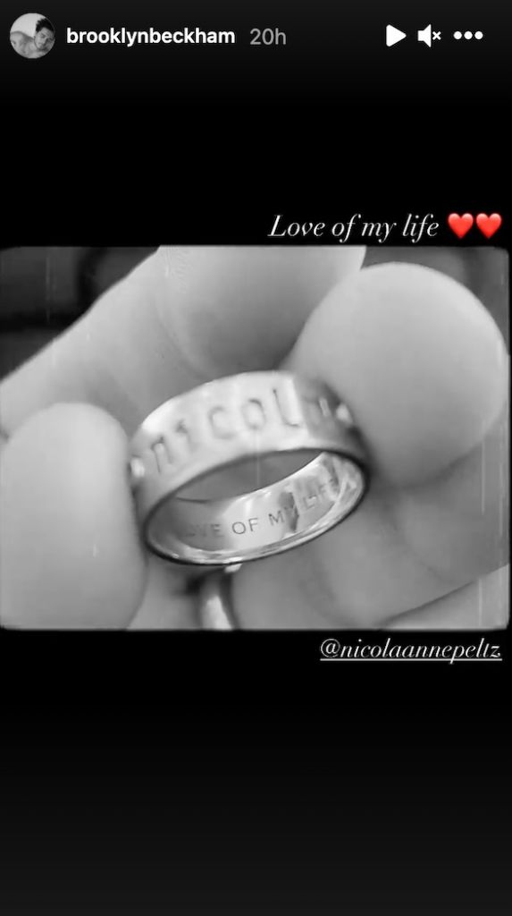 Brooklyn Beckham's ring
