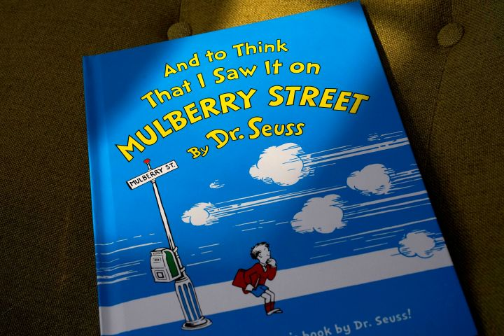 """A copy of the book """"And to Think That I Saw It on Mulberry Street"""" by Dr. Seuss"""