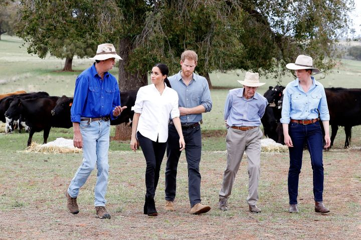 The Duke and Duchess of Sussex in Dubbo, Australia.