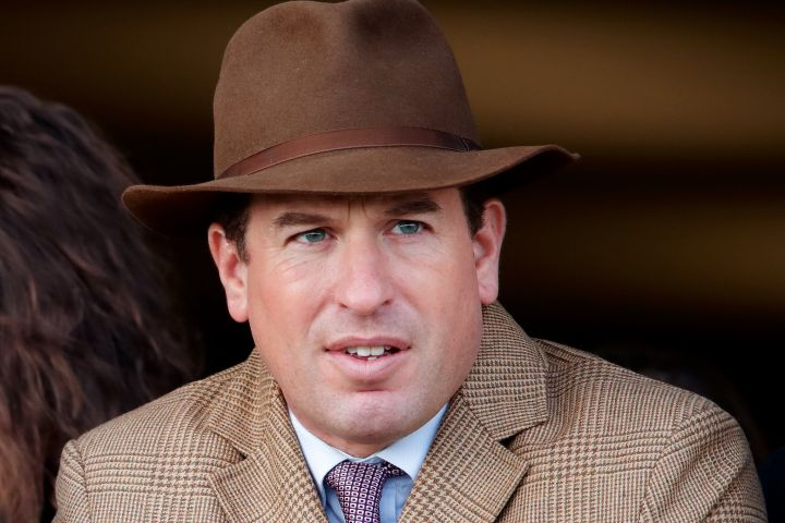 Peter Phillips watches the racing as he attends day 4 'Gold Cup Day' of the Cheltenham Festival 2020