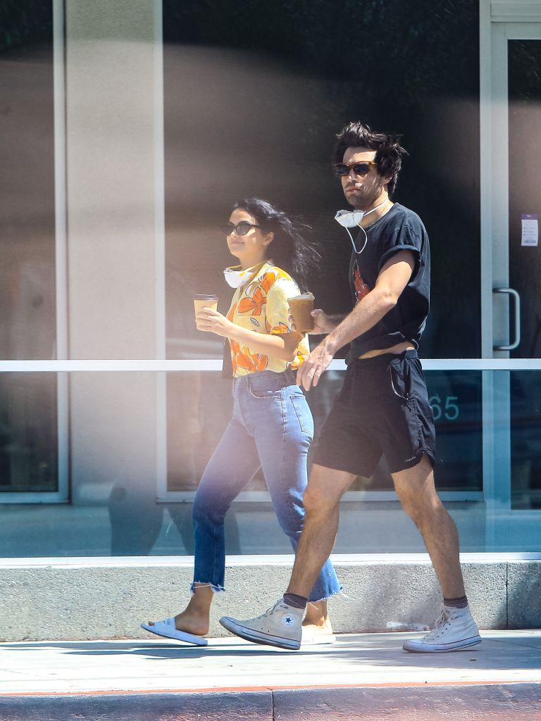 Camila Mendes and Grayson Vaughan. Photo: gotpap/Bauer-Griffin/GC Images/Getty Images