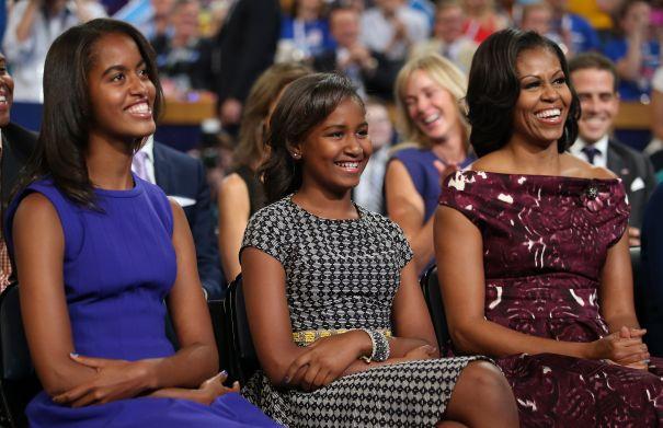 Michelle, Malia & Sasha Obama