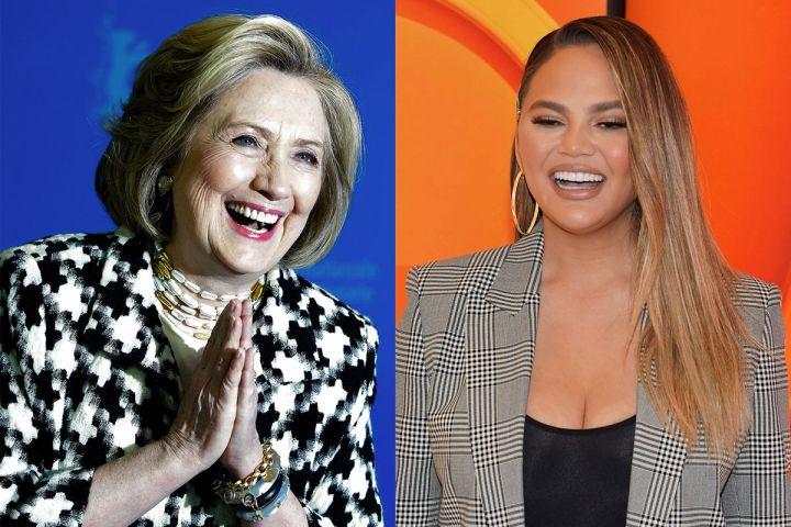 Hillary Clinton + Chrissy Teigen