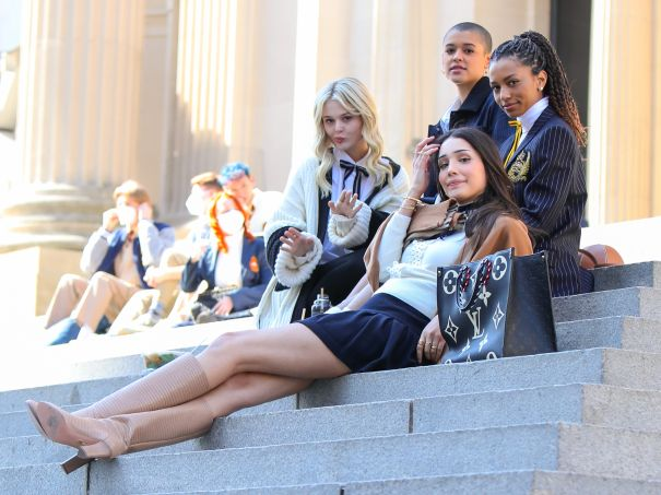 'Gossip Girl' Cast Spotted On The Met Steps