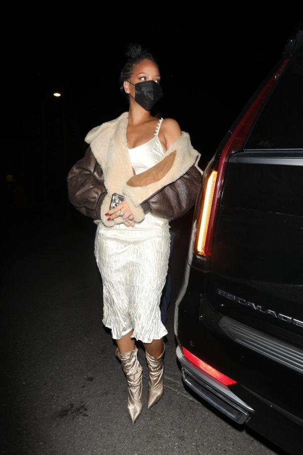 Rihanna Dresses Up
