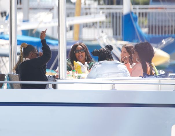Lizzo And Pals Have A Yacht Party