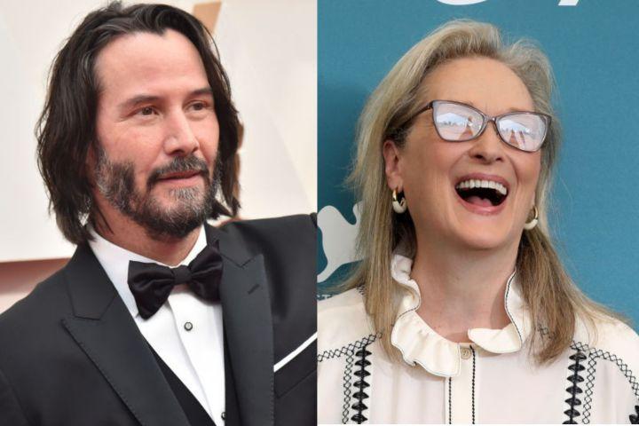 Keanu Reeves and Meryl Streep
