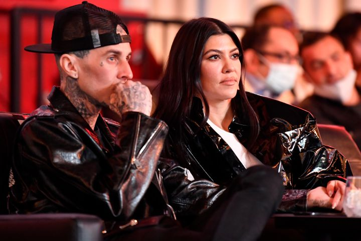 Travis Barker and Kourtney Kardashian.