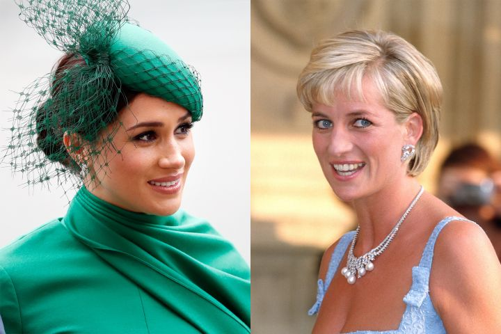 Meghan Markle, Princess Diana. Photo: Getty Images