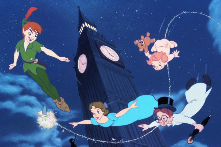 A scene is shown from Disney's 'Peter Pan' (1953).