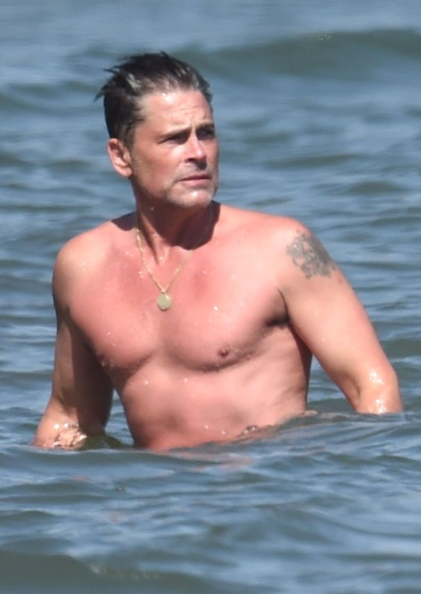 Rob Lowe Goes For A Dip