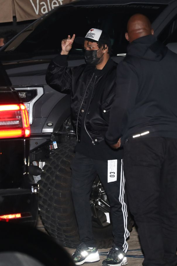 The Weeknd Heads Out For Dinner In Malibu