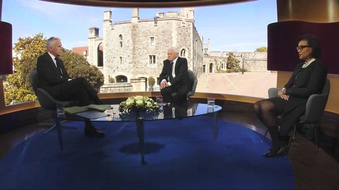 Sir David Attenborough on the BBC on Saturday April 17, 2021.