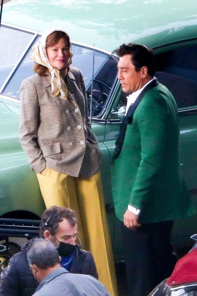 """Javier Bardem and Nicole Kidman on set of """"Being the Ricardos"""" in Los Angeles. Photo: Backgrid"""