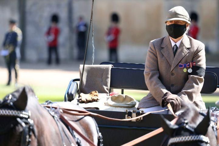 The Duke of Edinburgh's driving carriage. Photo: Ian Vogler/Pool via AP