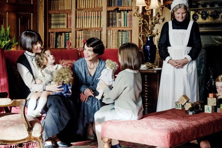 """Downton Abbey"", seated, from left: Michelle Dockery, Elizabeth McGovern, 2019."